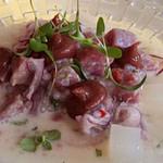 Ceviche tonijn-avocado-limoen