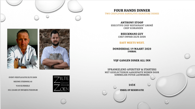 four hands dinner