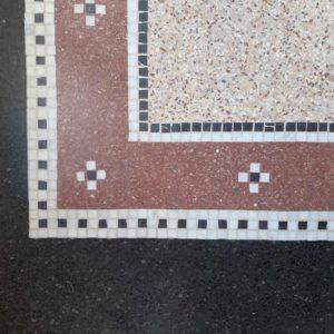 Mozaïek 3 kleuren terrazzo